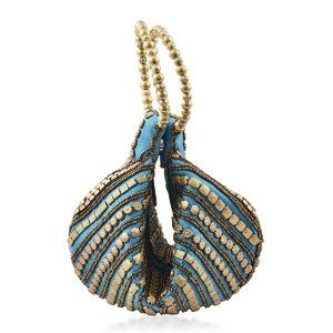 Embroidery Beaded Potli Fortune Cookie Bag